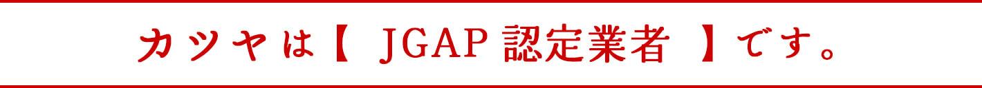 カツヤは【JGAP認定業者】です。